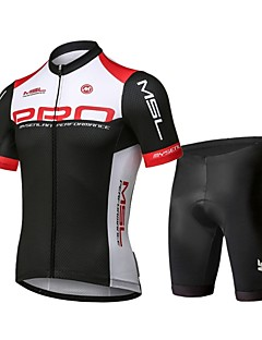 b998dcf14 Mysenlan Men s Short Sleeve Cycling Jersey with Shorts - Red   black Bike  Clothing Suit