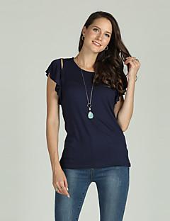 Χαμηλού Κόστους Γυναικείες Μπλούζες-Γυναικεία T-shirt Βασικό / Κομψό στυλ street Μονόχρωμο Κοφτό