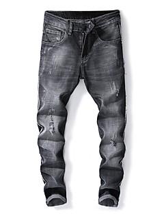 billige Herrebukser og -shorts-Herre Gatemote Jeans Bukser Ensfarget