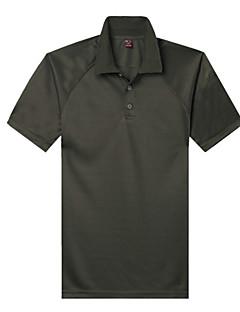 baratos Camisetas para Trilhas-Homens Camiseta de Trilha Ao ar livre Secagem Rápida, Design Anatômico, Respirabilidade Camiseta Casual / Exercicio Exterior / Viajar