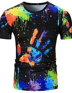billige Herremote og klær-T-skjorte Herre - Regnbue, Trykt mønster Gatemote / Punk & Gotisk