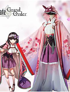 """billige Anime cosplay-Inspirert av Skjebne / Grand Order Osakabehime Anime  """"Cosplay-kostymer"""" Cosplay Klær Blomstermønster Genser / Beinbeskyttere / Hodeplagg Til Dame Halloween-kostymer"""