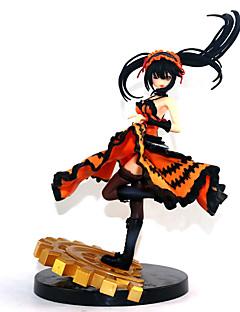 billige Anime cosplay-Anime Action Figurer Inspirert av Date A Live Kurumi Tokisaki PVC 22 cm CM Modell Leker Dukke