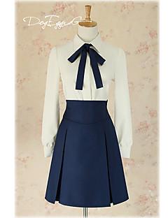 """billige Anime Kostymer-Inspirert av Fate / Stay Night Saber Lily Anime  """"Cosplay-kostymer"""" Cosplay Klær Helfarge / Animé Halsklut / Topp / Skjørte Til Dame"""