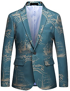 billige Herremote og klær-Jacquard Blazer-Trykt mønster Forretning Gatemote Herre