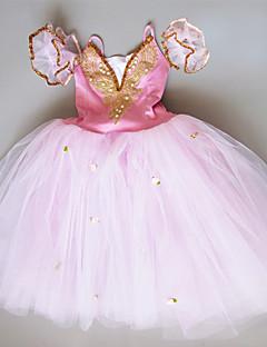 tanie Stroje baletowe-Balet Suknie Dla dziewczynek Wydajność Spandeks Zgnioty / Kryształy / kryształy górskie Bez rękawów Tutu