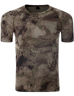 baratos Camisetas para Trilhas-Homens Camiseta de Trilha Ao ar livre Secagem Rápida, Respirabilidade, Resistente a UV Camiseta Equitação / Exercicio Exterior / Sertão