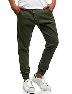billige Herremote og klær-menns pluss størrelse bomull chinos / harem bukser - solid farget