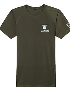 baratos Camisetas para Trilhas-Homens Camiseta de Trilha Ao ar livre Secagem Rápida, Respirabilidade, Resistente a UV Camiseta Alpinismo / Casual / Exercicio Exterior