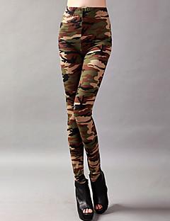 baratos Roupas de Dança Latina-Dança Latina Calça Legging Mulheres Treino / Espetáculo Elástico / Charmeuse Estampa Alto Calças