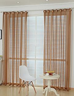 baratos Cortinas Transparentes-Sheer Curtains Shades Sala de Jantar Treliça Poliéster Jacquard