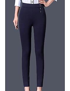 baratos Leggings para Mulheres-Mulheres Básico Legging - Sólido Cintura Alta