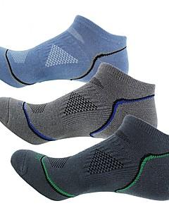 Χαμηλού Κόστους Κάλτσες Ποδηλασίας-Ποδήλατο / Ποδηλασία Κάλτσες Ανδρικά Ικανότητα να αναπνέει 3 Ζεύγη Άνοιξη / Καλοκαίρι Ριγέ Βαμβάκι / Άλλο / Ελαστικό