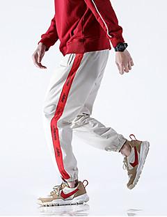 billige Herrebukser og -shorts-Herre Gatemote Chinos Bukser Stripet / Bokstaver