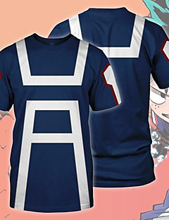 billige Anime Kostymer-My Hero Academy Battle For All / Boku no Hero Academia Cosplay T-skjorte Terylene Til Unisex