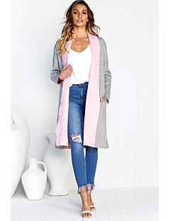 abordables Colecciones de Diseño-Mujer Básico chaqueta kimono Un Color Retazos