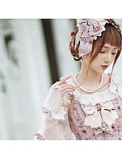 billiga Lolitaaccessoarer-Huvudbonad Söt Lolita Dam Rosa lolita tillbehör Spets Huvudbonad Legering Halloweenkostymer