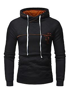 tanie Męskie swetry i swetry rozpinane-Męskie W serek Szczupła Długie Sweter rozpinany Kolorowy blok Długi rękaw
