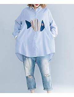 billige Bluse-Krave Dame - Ensfarvet Bluse