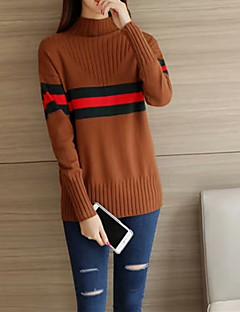 tanie Swetry damskie-Damskie Moda miejska Pulower Kolorowy blok