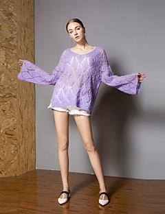tanie Swetry damskie-Damskie Aktywny Flare rękawem Pulower - Z wycięciem, Solidne kolory