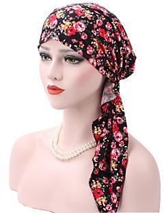 billige Hatter til damer-Dame Grunnleggende / Ferie Solhatt - Lace Trim, Blomstret