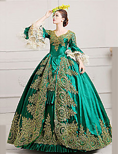 Marie Antoinette Rococo 18th Century Costume Women s Dress Party Costume  Masquerade Ball Gown Green Vintage Cosplay Lace Satin Party Prom Poet  Sleeve Floor ... 6ab0a3ba4309