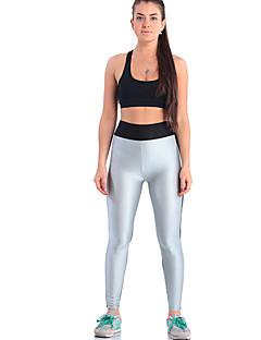 baratos Leggings para Mulheres-Mulheres Esportivo Legging - Estampa Colorida, Paetês Cintura Média