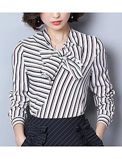 billige Bluse-V-hals Dame - Stribet Bluse