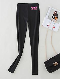 baratos Leggings para Mulheres-Mulheres Diário Esportivo Legging - Sólido Cintura Média