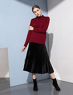baratos Suéteres de Mulher-Mulheres Activo Pulôver - Sólido, Patchwork