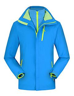 tanie Odzież turystyczna-Męskie Bluzy Polar turystyczny Kurtka turystyczna na wolnym powietrzu Jesień Wiosna Zima Odporność na wiatr Ochrona przed deszczem Oddychalność Zdatny do noszenia Chinlon Kurtki 3 w 1 Top Pojedyncze