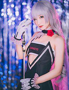 """billige Anime Kostymer-Inspirert av Guns Girl - School DayZ Kiana Kaslana Anime  """"Cosplay-kostymer"""" Cosplay Klær / Cosplay Parykker Enkel Kjole / Mer Tilbehør / Parykker Til Dame Halloween-kostymer"""
