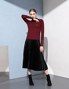 baratos Suéteres de Mulher-Mulheres Activo Pulôver - Sólido, Com Miçangas