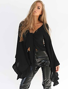 cheap Women's Tops & Sets-Women's Street chic / Punk & Gothic Blouse - Solid Colored