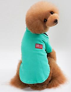 billiga Hundkläder-Hund / Katt Kappor / Tröja Hundkläder Enfärgad Grå / Gul / Grön Cotton Kostym För husdjur Unisex Minimalistisk Stil / Ledig / Sportig
