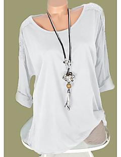 Χαμηλού Κόστους Γυναικείες Μπλούζες-Γυναικεία T-shirt Βασικό Μονόχρωμο