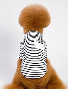 billiga Hundkläder-Hund / Katt Kappor Hundkläder Randig Vit / Rosa Bomullstyg Kostym För husdjur Unisex Sport och utomhus / Ledigt / vardag