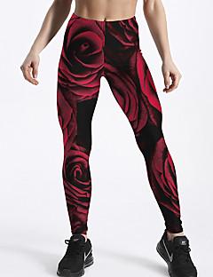 baratos Leggings para Mulheres-Mulheres Básico Legging - Estampa Colorida / camuflagem Cintura Alta