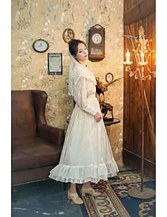 billiga Lolitamode-Söt Lolita Klassisk / Traditionell Lolita Traditionellt / Vintage Spets Dam Kjolar Blus / Skjorta Festklädsel Maskerad Cosplay Vit / Rosa Juliet Långärmad Lång längd Kostymer