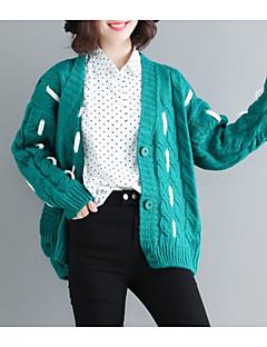 tanie Swetry damskie-wełniany sweter z długimi rękawami - kolor bloku