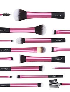 billige Sminkebørstesett-16pcs Makeup børster Profesjonell Børstesett syntetisk Plast