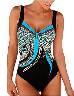 billige Bikinier og damemote-Dame Sporty / Grunnleggende Med stropper Oransje Lilla Gul Trekant Cheeky En del Badetøy - Fargeblokk / Dyr Åpen rygg L XL XXL / Super Sexy