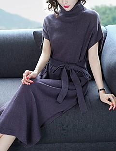 Χαμηλού Κόστους Sweater Dresses-Γυναικεία Βασικό Παντελόνι - Μονόχρωμο Σκούρο γκρι / Ζιβάγκο