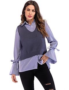 baratos Suéteres de Mulher-colete sem mangas para mulher - colo em v maciço