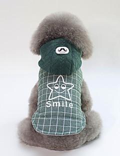 billiga Hundkläder-Hund Kappor Hundkläder Brittisk / Slogan Grå / Grön Cotton Kostym För husdjur Unisex Ledigt / vardag / Uppvärmning