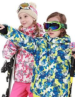 billiga Skid- och snowboardkläder-Pojkar / Flickor Skiddräkt Vindtät, Vattentät, Håller värmen Skidåkning / Snowboardåkning polyster Klädesset Skidkläder