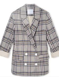 Χαμηλού Κόστους Blazers-γυναικεία μπλούζα-houndstooth πουκάμισο πουκάμισο