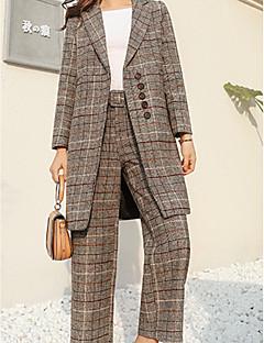 Χαμηλού Κόστους Γυναικεία Παντελόνια & Φούστες-Γυναικεία Κομψό στυλ street Σετ - Ριγέ Παντελόνι