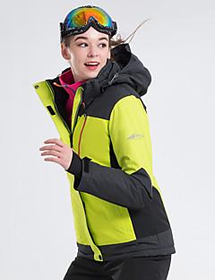 billiga Skid- och snowboardkläder-LanLaKa Dam Skidjacka Vindtät, Vattentät, Håller värmen Skidåkning / Snowboardåkning / Vintersport POLY Vinterjacka Skidkläder
